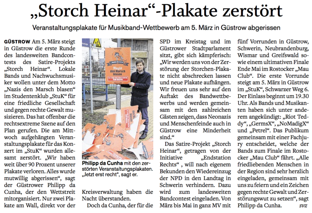 SVZ_26_Feb_2016_Storch_Heinar_Plakate_Zerstoert