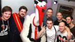 Philipp da Cunha, Julian Barlen (MdL), Storch Heinar und die Band Riot Teddy
